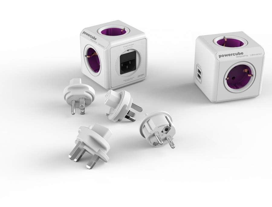 PowerCube ReWirable USB + 4x plug DE