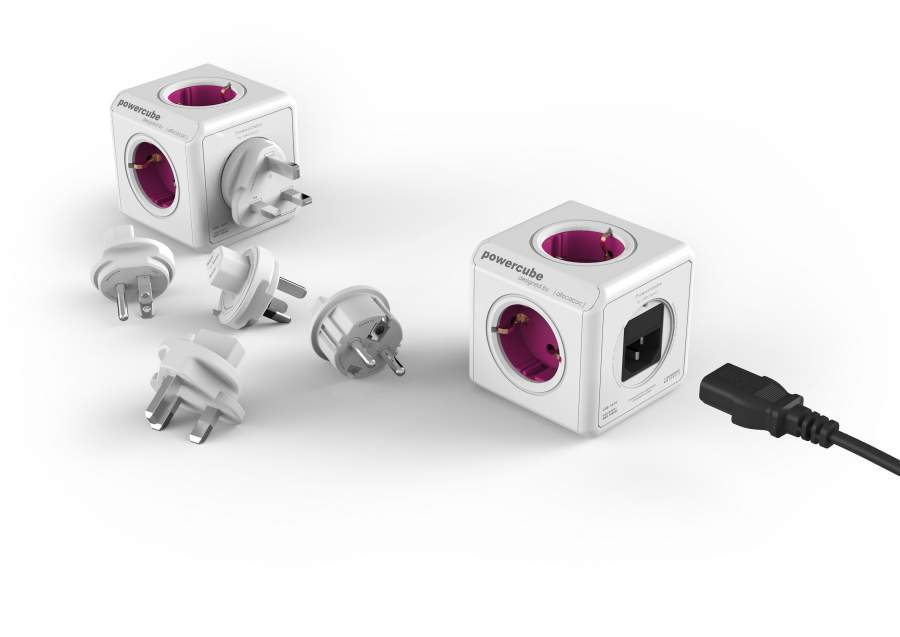 PowerCube ReWirable + 3x plug + IEC EU cable DE